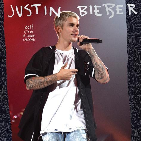 Justin Bieber 2018 Calendar Calendars At Allposters Com Au