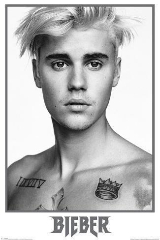 Justin Bieber Black And White Posters