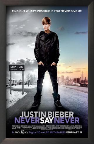 Justin Bieber: Never Say Never Framed Art Print