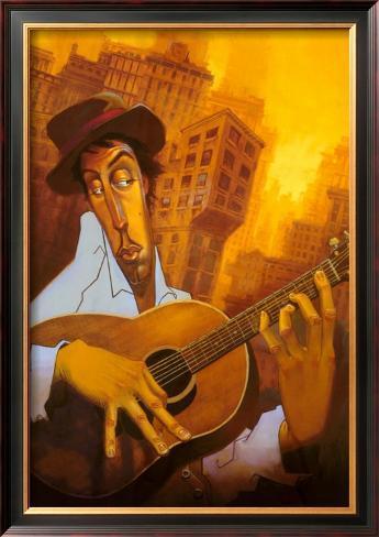 El Guitarrista Framed Art Print