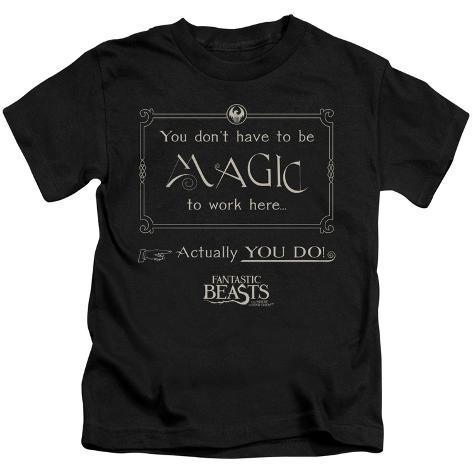 Juvenile: Fantastic Beasts- Magic To Work Here Kids T-Shirt