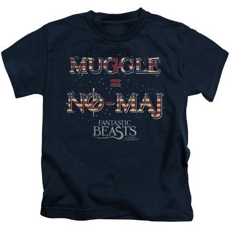 Juvenile: Fantastic Beasts- Muggle = No Maj Kids T-Shirt