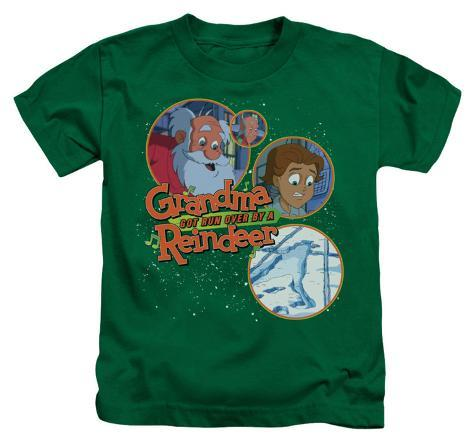 Juvenile grandma got run over by a reindeer santa and for Attack of the 50 foot woman t shirt