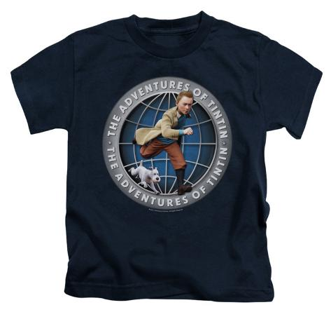 Juvenile: The Adventures of Tintin - Globe Kids T-Shirt