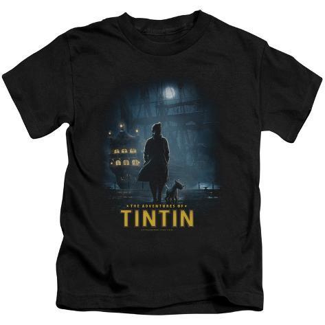 Juvenile: The Adventures of Tintin - Title Poster Kids T-Shirt
