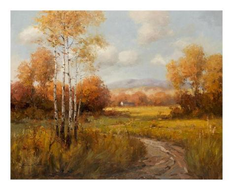 Countryside in the Fall Art Print