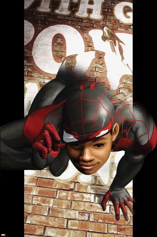 Ultimate Comics Spider-Man No.6 Cover: Spider-Man Transforming Poster