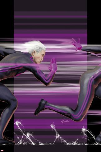 Ultimate Comics X-Men No.4 Cover: Quicksilver Running Poster