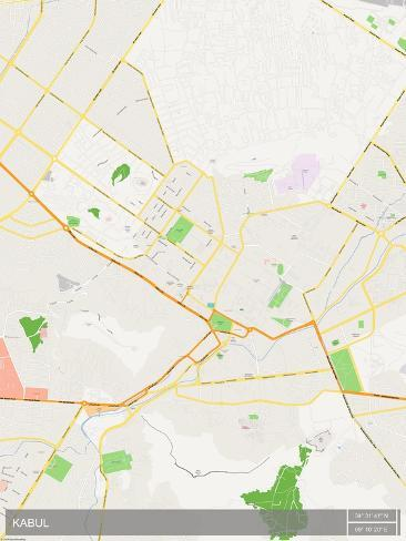 Kabul, Afghanistan Map Prints - at AllPosters.com.au