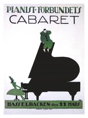 Pianist Forbundets Cabaret Giclee Print
