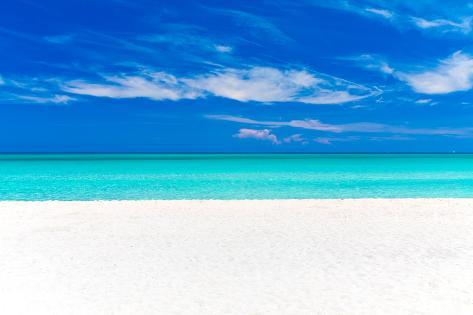 A Beautiful Tropical Beach in Cuba Photographic Print