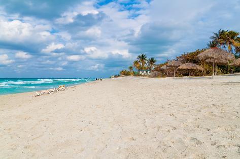 The Cuban Beach of Varadero on a Beautiful Day Photographic Print
