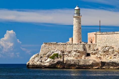 The Famous Fortress and Lighthouse of El Morro in the Entrance of Havana Bay, Cuba Photographic Print