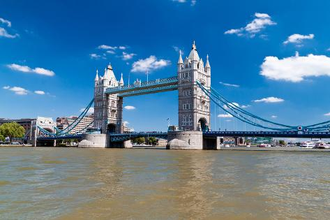 Tower Bridge in London in a Beautiful Summer Day Photographic Print