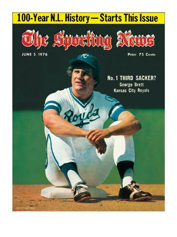 Kansas City Royals 3B George Brett - June 5, 1976 Photo