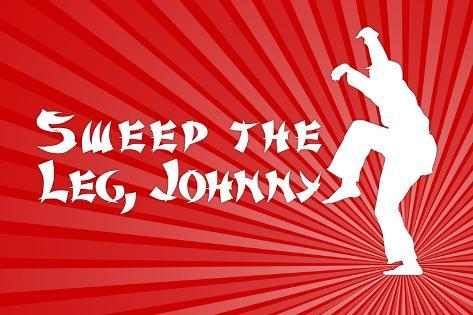 Karate Kid Movie Sweep the Leg Johnny Plastic Sign Plastic Sign