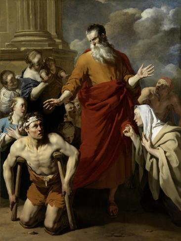 St Paul Healing the Cripple at Lystra Art Print