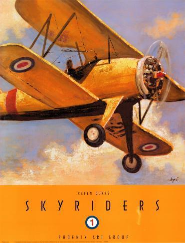 Sky Riders I Art Print
