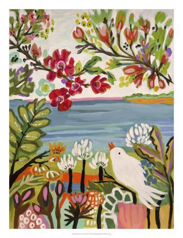Birds in the Garden II Art Print