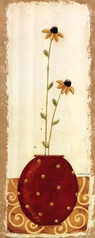 Polka Dot Flower Pot IV Art Print