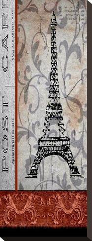 Paris Postcard Panel Stretched Canvas Print