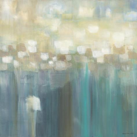 Aqua Light Stretched Canvas Print
