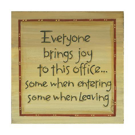 Everyone Brings Joy Art Print