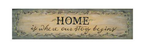 Home Is Where Our Story Begins Art Print