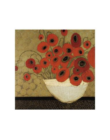Frida's Poppies Art Print