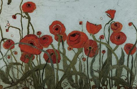 Poppyfield I Art Print