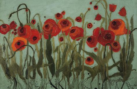 Poppyfield II Art Print