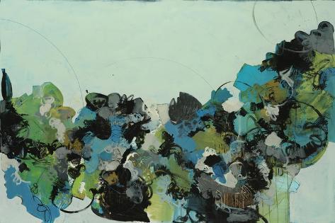 Black and Blue Giclee Print