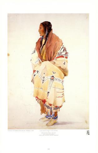 Chan-Cha-Uia-Teuin, Teton Woman Art Print