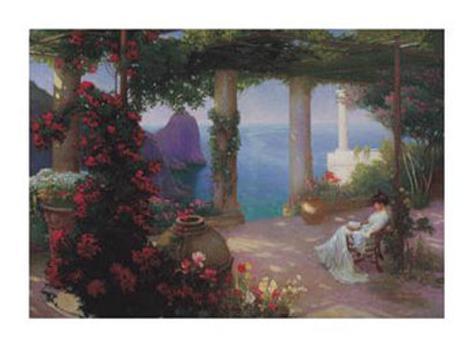 On the Terrace at Capri Art Print