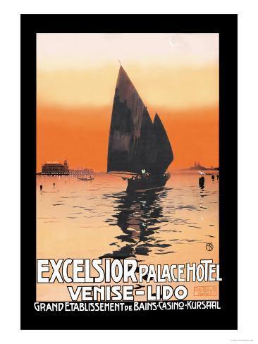 Excelsior Palace Hotel Art Print