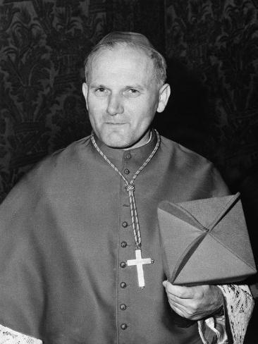 Karol Cardinal Wojtyla, Archbishop of Krakow, Poland Photographic Print