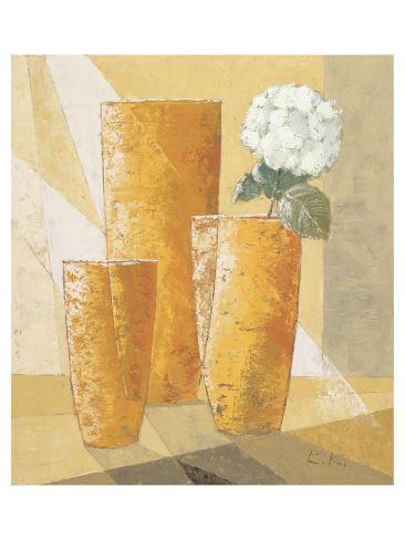 Single White Chysanthemum Art Print