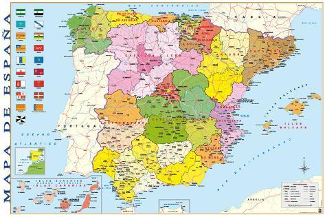 karta över spanska kusten Karta över Spanien   Posters på AllPosters.se karta över spanska kusten