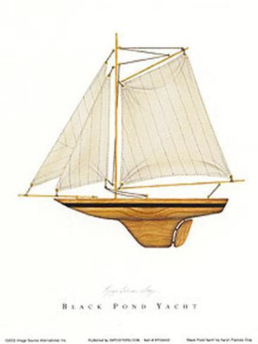 Black Pond Yacht Art Print