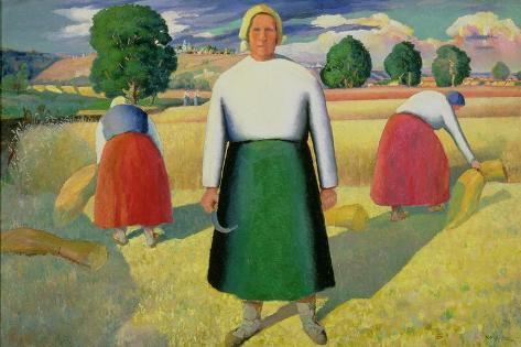 The Harvesters, 1909-10 Lámina giclée