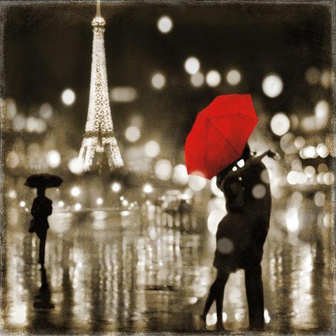 A Paris Kiss Framed Art Print