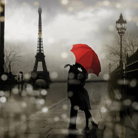 Paris Romance Impressão artística