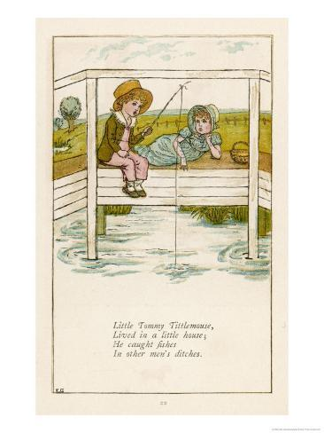 Little Tommy Tittlemouse Lived in a Little House Giclee Print