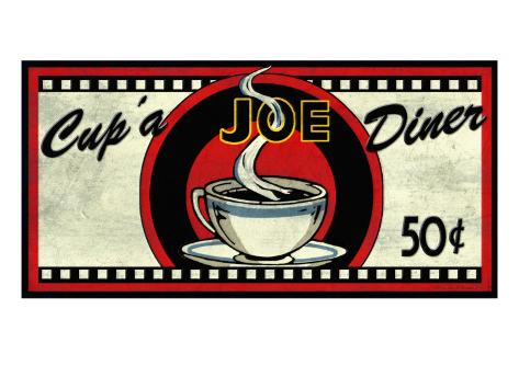 Cup 'a Joe Diner Giclee Print