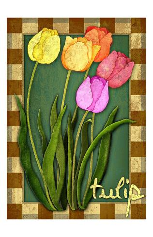 Tulip Flowers Stampa giclée