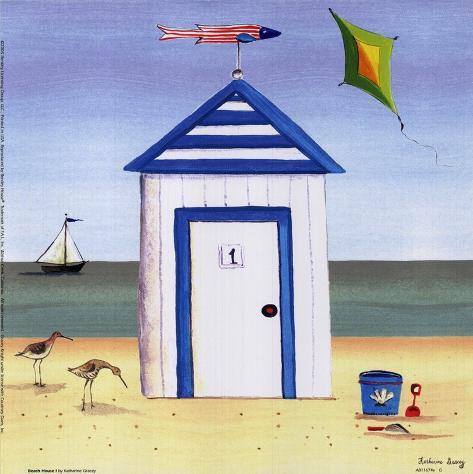 Beach house i poster by katharine gracey for Beach house prints