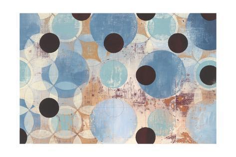 Blue Dots Art Print