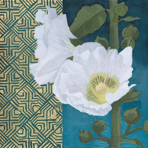 Soft Evening III indigo Art Print