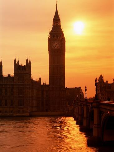Big Ben and Houses of Parliament, Unesco World Heritage Site, London, England Photographic Print