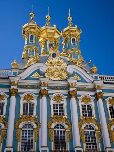 Russia, St Petersburg, Catherine Palace, Tsarskoe Selo Impressão fotográfica